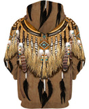 Native American Brown Feathers