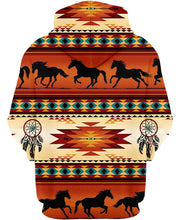 Load image into Gallery viewer, Native American Red Horses Motif