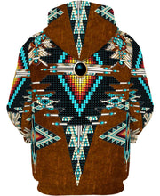 Load image into Gallery viewer, Native American Brown Eagle Pattern