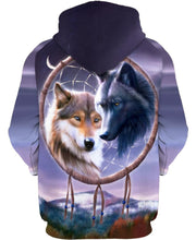 Load image into Gallery viewer, Native American Wolves Couple Dreamer