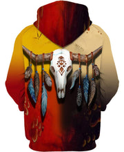 Load image into Gallery viewer, Native American Skull Colourful