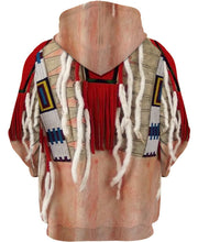 Load image into Gallery viewer, Native American Red Necklace White Feather