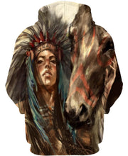 Load image into Gallery viewer, Native American Brown Chief Woman