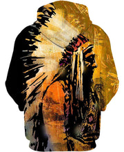 Load image into Gallery viewer, Native American Dark Yellow Indian Chief