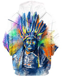Native American Indian Chief Colourful Painting