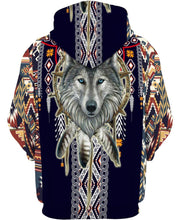 Load image into Gallery viewer, Native American Circle Wolf Head