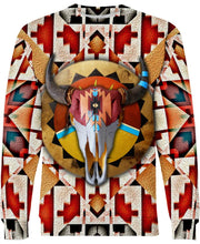 Load image into Gallery viewer, Native American Bison Skull Pattern