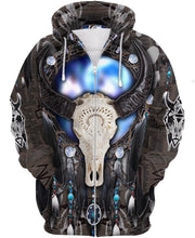 Load image into Gallery viewer, Native American Blur Bison Skull