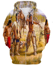 Load image into Gallery viewer, Native American Indian Chief's Family