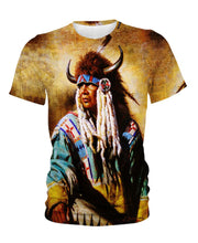 Load image into Gallery viewer, Native American Indian Chief Yellow Backgroud