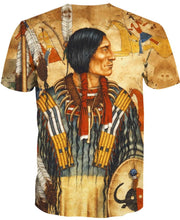 Load image into Gallery viewer, Native American Indian Chief Brown Backgroud