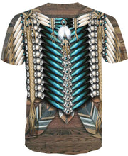 Load image into Gallery viewer, Native American Pattern Blue