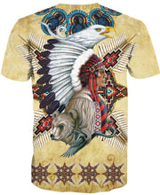Load image into Gallery viewer, Native American Indian Wolf Eagle