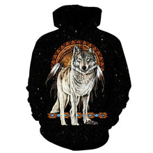 Load image into Gallery viewer, Native American Wolf & Dream Catcher