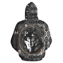 Load image into Gallery viewer, Native American Black Wolf & Dream Catcher