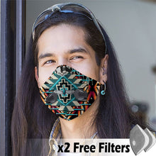 Load image into Gallery viewer, Native American Velcro Mask 25
