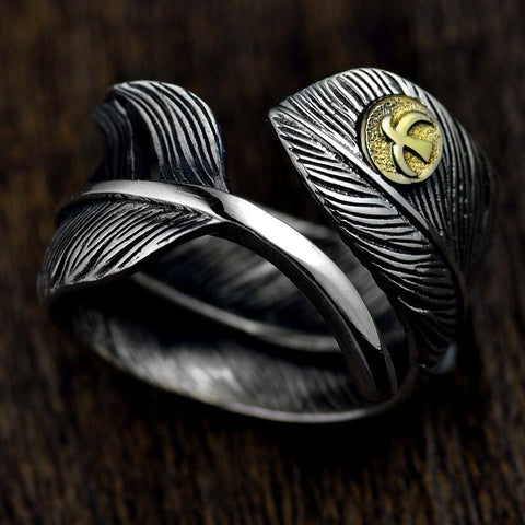 Feather with Eagle Ring