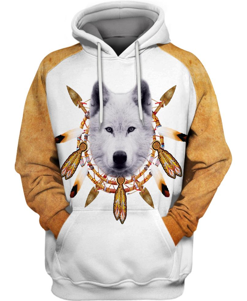 Native American White Wolf