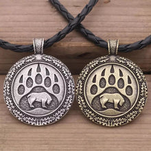 Load image into Gallery viewer, Tribal Bear & Bear Print Necklace