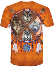 Load image into Gallery viewer, Native American Four Wolfs