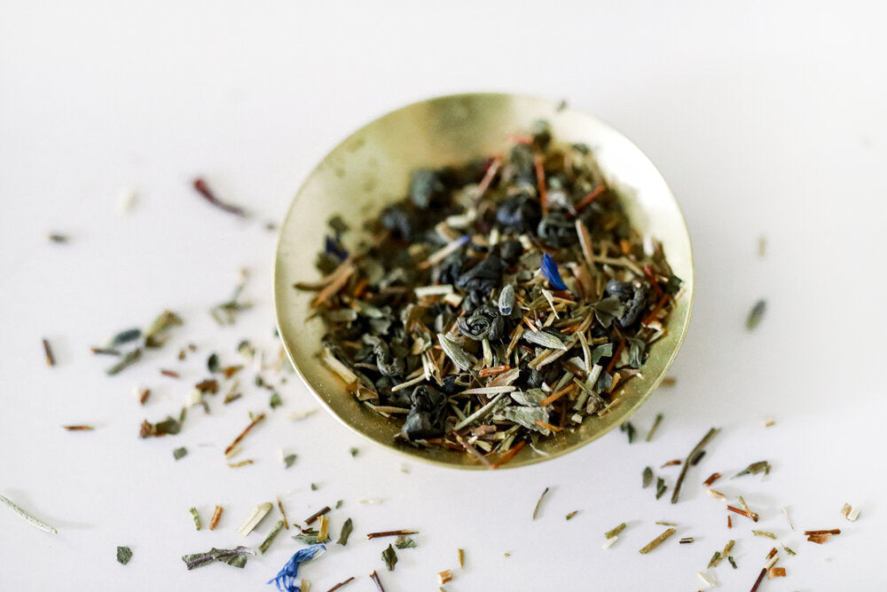 Organic Berry Mint Basil Loose Leaf Green Tea