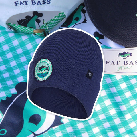 Fat Bass Beanie for bass fisherman