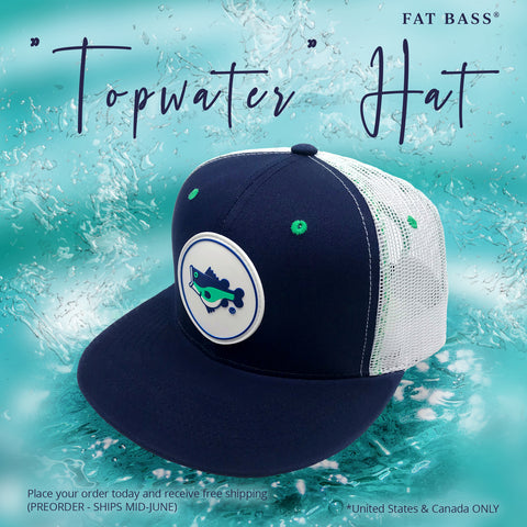 Fat bass top water mesh snap back