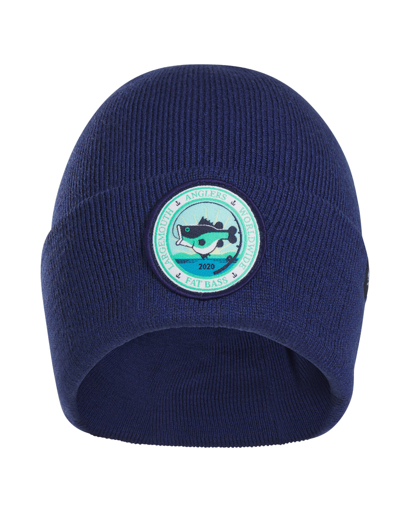 "FAT BASS ""LARGEMOUTH ANGLERS WORLDWIDE"" Beanie - Navy - Fat Bass"