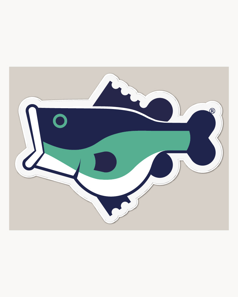 Fat Bass FULL COLOR Logo Vinyl Decal - Fat Bass