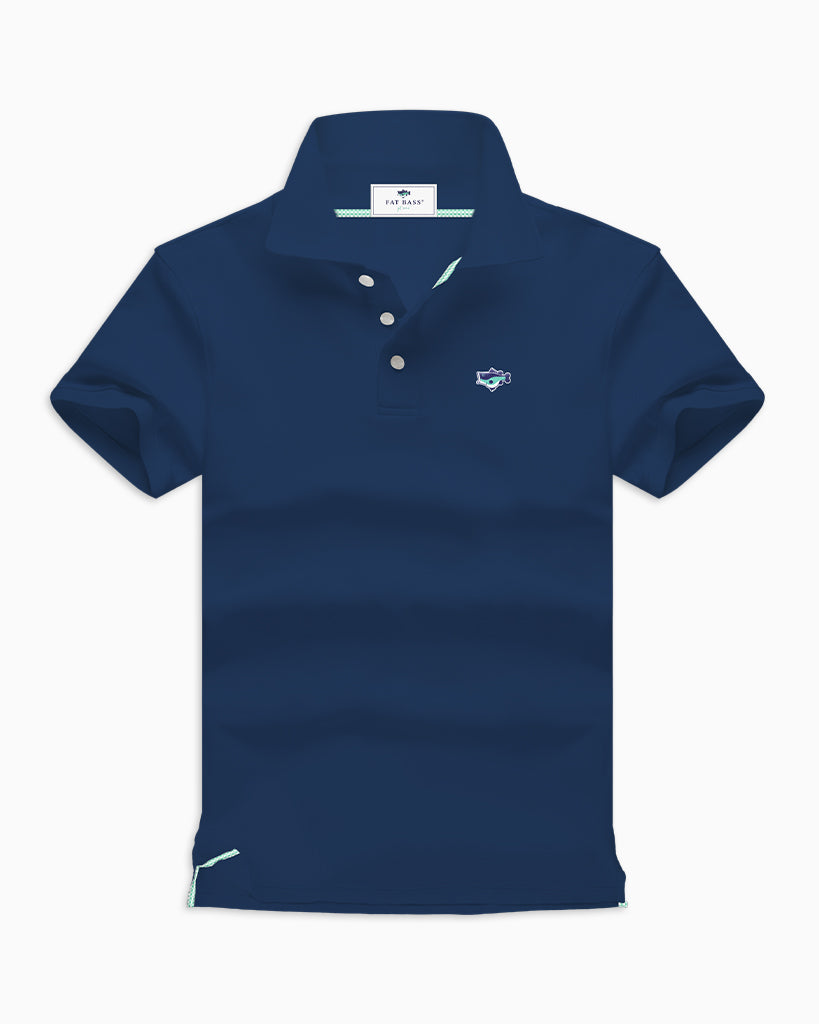 Navy Polo Shirts - Fat Bass
