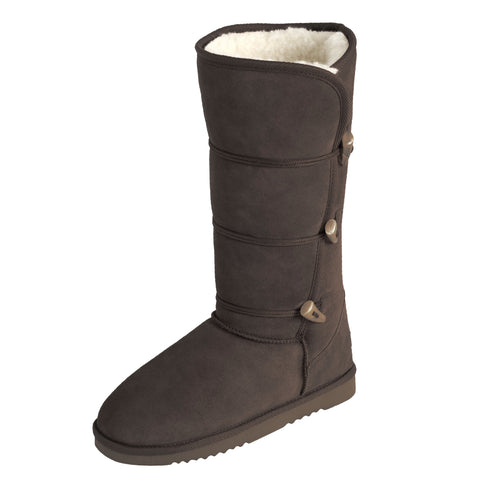 NZ UGG ANTLER Tall Boot - Mi Woollies - Chocolate