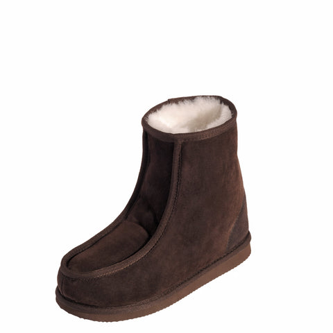 Mens Premium Sheepskin Short-Mid Boot - Choc Grey or Walnut Emu Mi Woollies