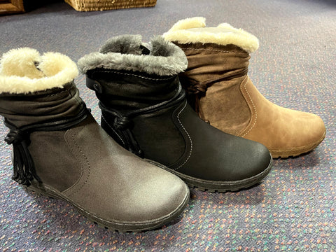 GEMMA BOOTS ARE BACK!   Black, Grey or Taupe -  super comfy Ankle Boots for Ladies