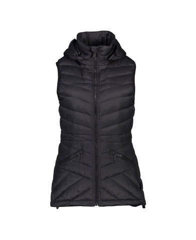 "MOKE ""Mary Claire"" Ladies flattering Featherdown Puffer Vest  BLACK - LIMITED SIZES only"