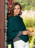 NOBLE WILDE- Ladies Cable Poncho - Merino Possum NZ Made