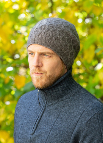 NOBLE WILDE Unisex Beanie Possum Loop Knit NZ Made!  For Men or Ladies