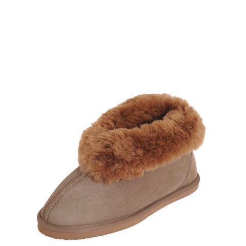 Luxurious Ladies Sheepskin SLIPPERS Padabout EVA Sole - Cinnamon -  Mi Woollies