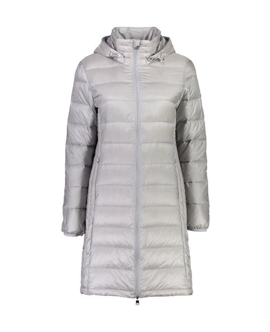 SARAH Ice Grey Long Feather Down Coat - Ladies - Classic Moke Favourite!