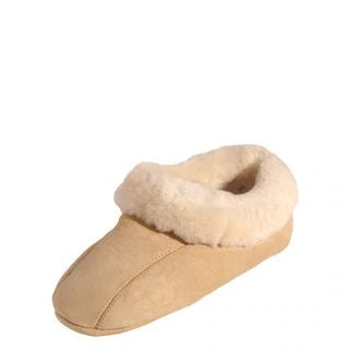 TAUPO Sheepskin Natural Soft Sole Suede Slippers
