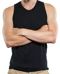 MENS NZ Made MERINO Black Singlet- Brass Monkeys