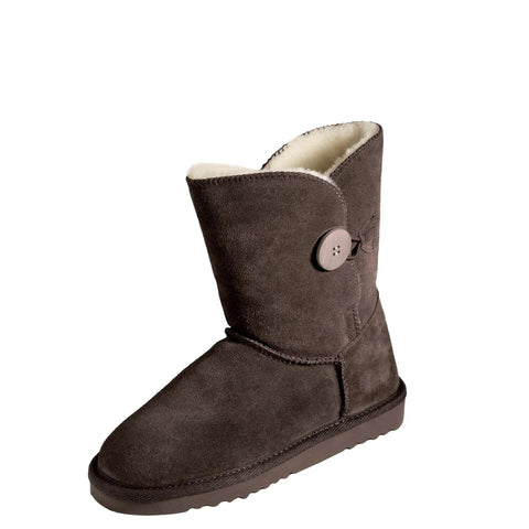 NZ Ugg Classic Button Mid Boot - Chocolate or Walnut -  MI WOOLLIES