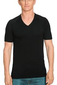 MENS NZ Made MERINO Tee V Neck Black - Brass Monkeys