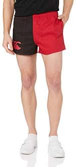 Canterbury Cotton Harlequin Shorts with Pockets Red/Black $39.90