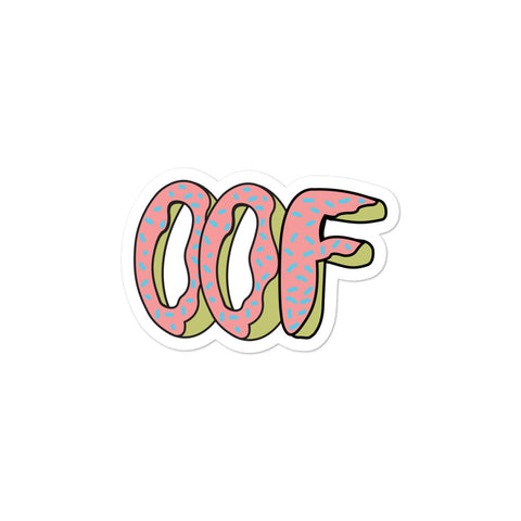 """OOFDONUT"" Bubble-free stickers"