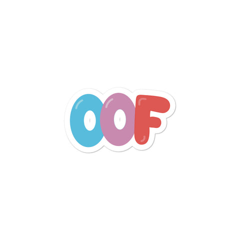 """OOF"" Bubble-free stickers"