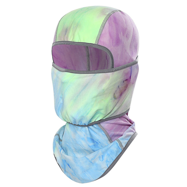 Tie-dye Winter Sports Full Face Balaclava - Helmet friendly, Milky Fleece™️, Stretchy, Sweat & Odor Resistant