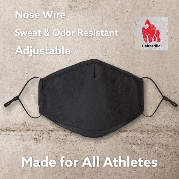 Brethado Sport Face Mask - All Mesh, Non-medical, Hand Made, Re-usable, Washable, Nose Wire, Adjustable, Insert Pocket