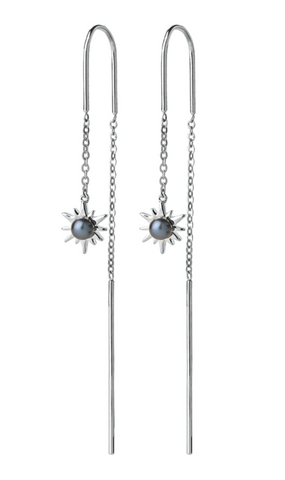 Karen Walker Temptation Thread Earrings, Silver