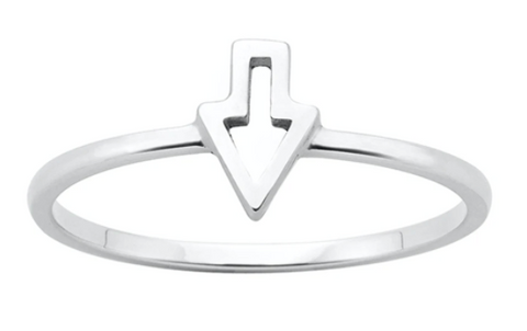 Karen Walker Superfine Runaway Arrow Ring, Silver