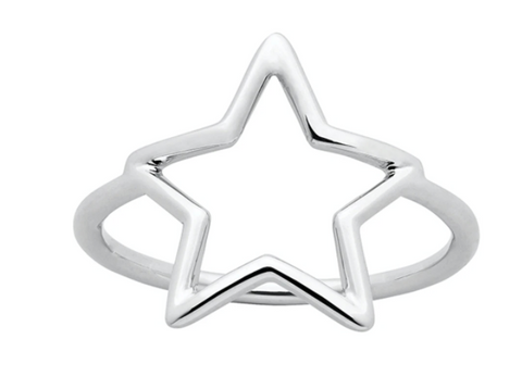 Karen Walker Star Outline Ring, Silver